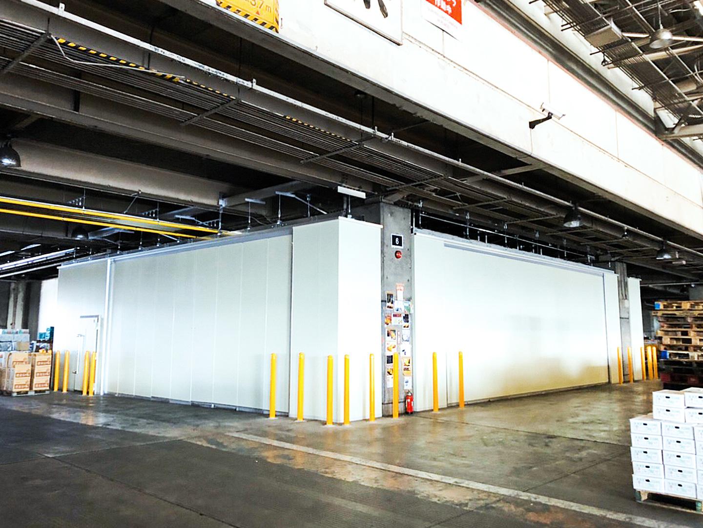 可動パネル式冷蔵庫設備 第2期工事